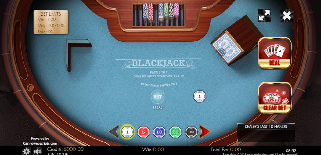 Классикалык Blackjack